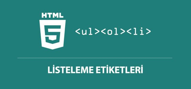 html listeleme etiketi