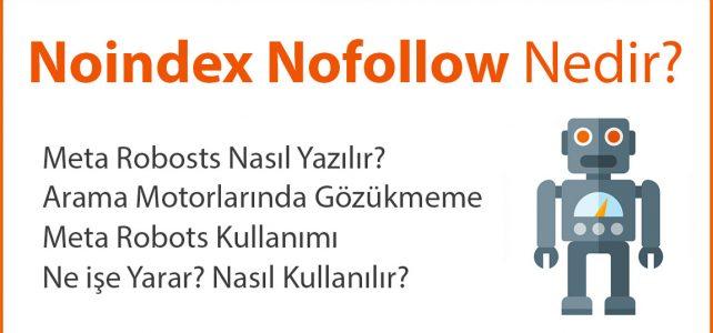 Noindex Nofollow Nedir?