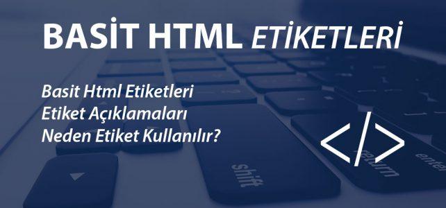 basit html etiketleri