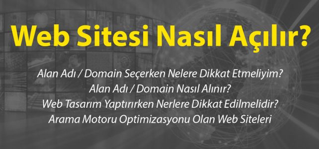 web sitesi nasıl açılır