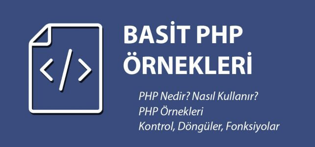 php basit örnekleri