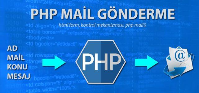 php mail fonksiyonu kullanımı