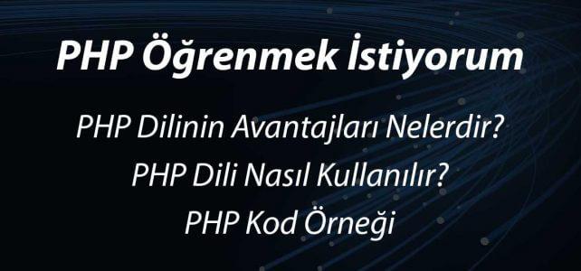 PHP Öğrenmek istiyorum