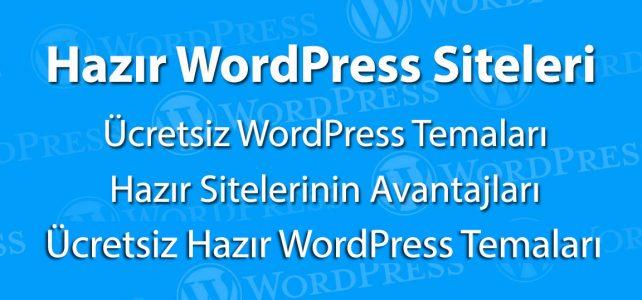 Hazır WordPress Siteleri
