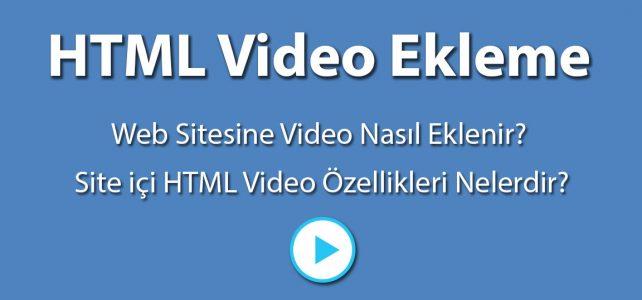 HTML Video Ekleme