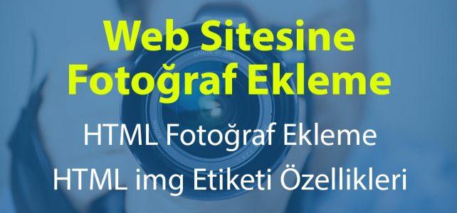 Web Sitesine Fotoğraf Ekleme