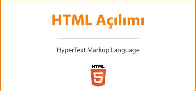 HTML Açılımı