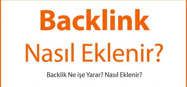 Backlink Nasıl Eklenir?