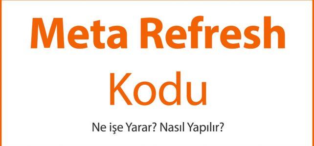 Meta Refresh Kodu