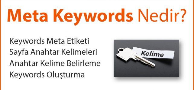 Meta Keywords Nedir?