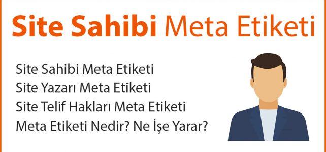 Site Sahibi Meta Etiketi