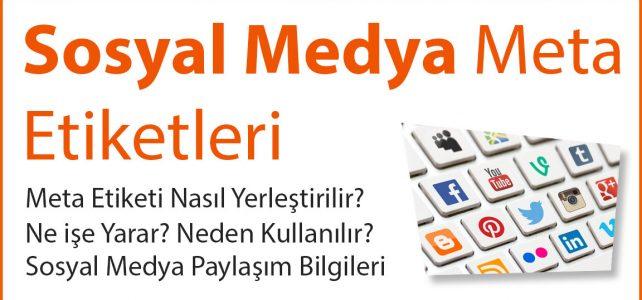 Sosyal Medya Meta Etiketleri