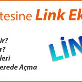 Web Sitesine Link Ekleme