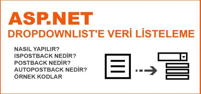 Asp.Net DropDownlist'e Veri Ekleme