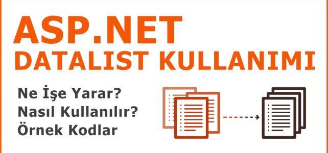 Asp.Net Datalist Kullanımı